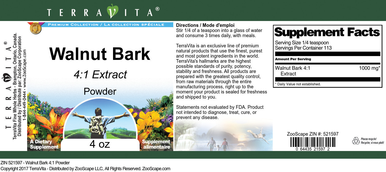 Walnut Bark 4:1 Extract