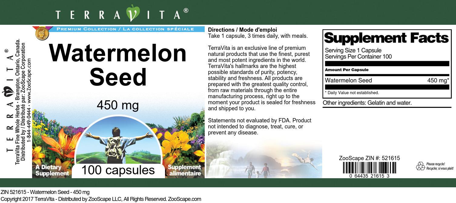 Watermelon Seed - 450 mg