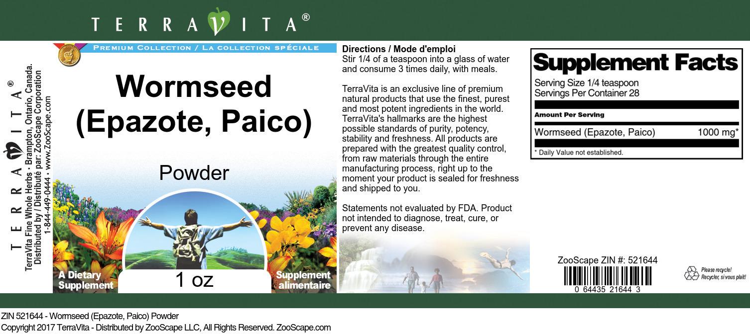 Wormseed (Epazote, Paico) Powder
