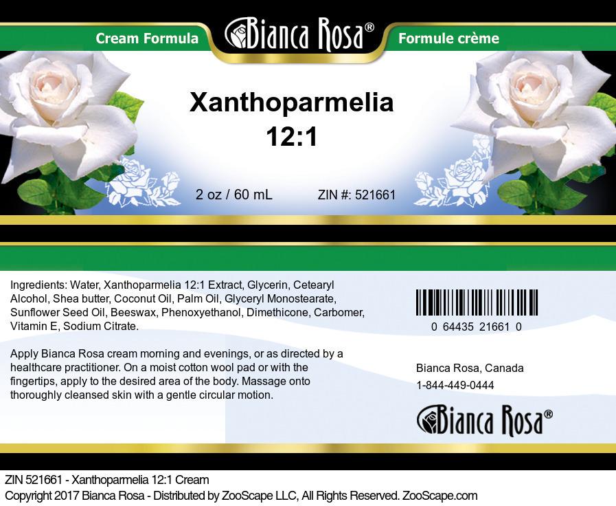 Xanthoparmelia 12:1 Cream