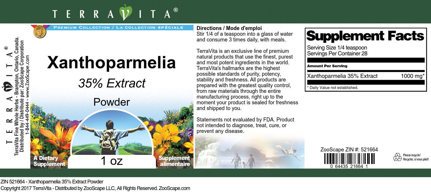 Xanthoparmelia 35% Extract