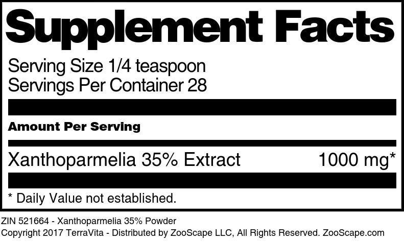 Xanthoparmelia 35% Powder