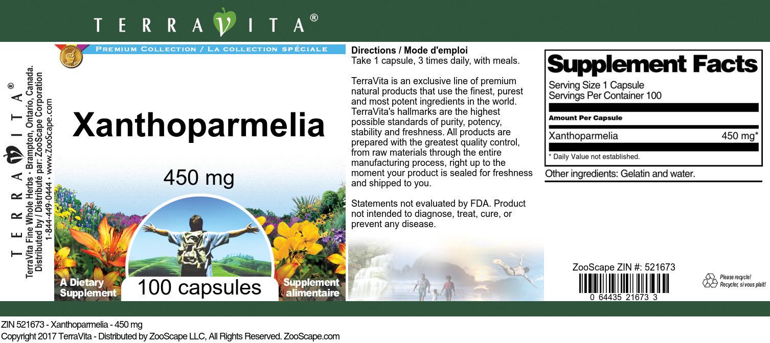 Xanthoparmelia - 450 mg