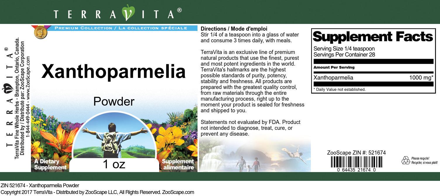 Xanthoparmelia Powder