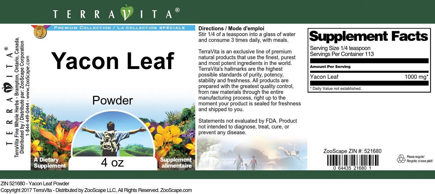 Yacon Leaf Powder