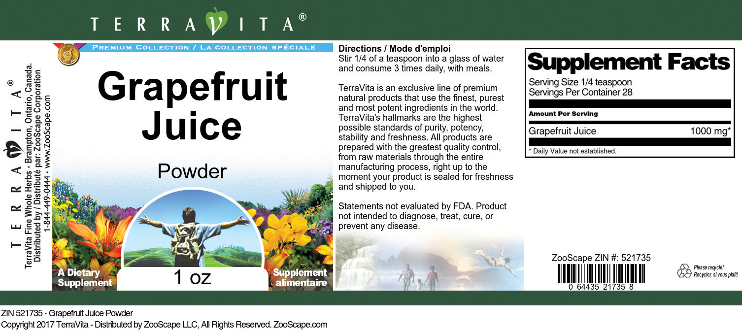 Grapefruit Juice Powder