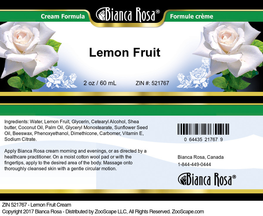 Lemon Fruit Cream