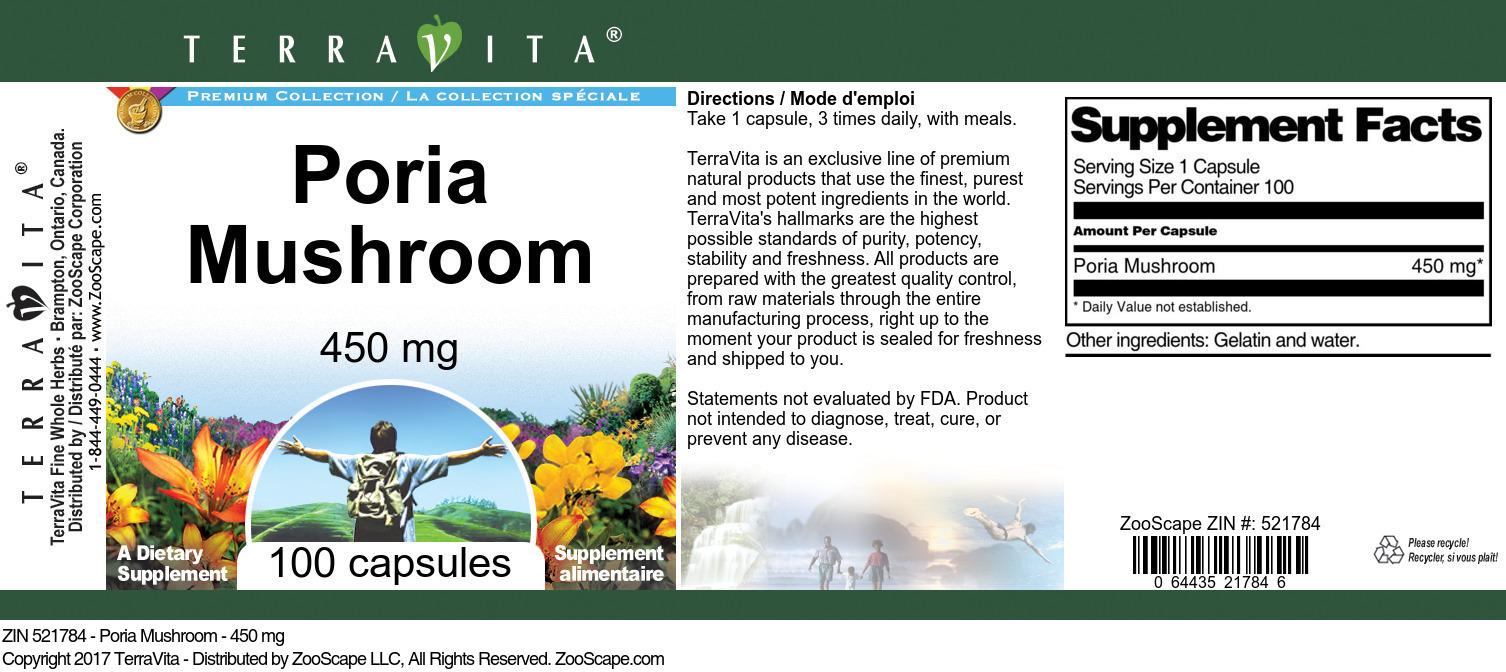 Poria Mushroom - 450 mg