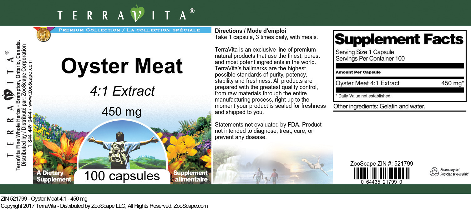 Oyster Meat 4:1 - 450 mg