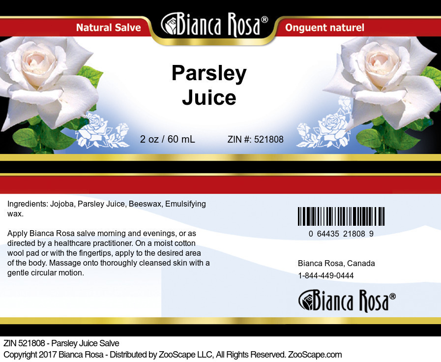 Parsley Juice Salve