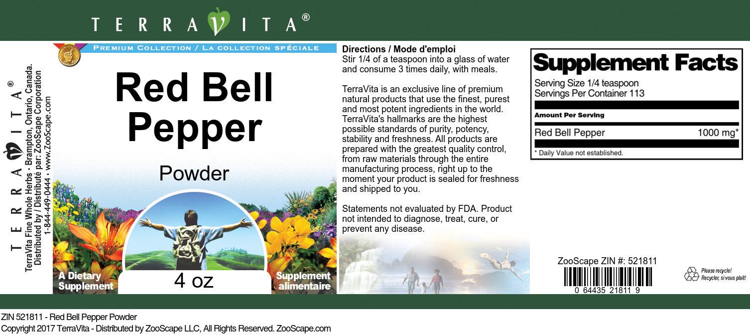 Red Bell Pepper Powder