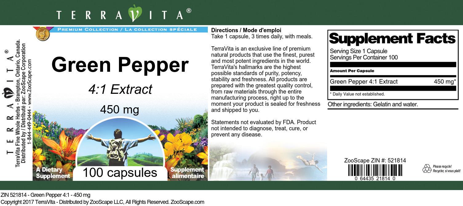 Green Pepper 4:1 - 450 mg