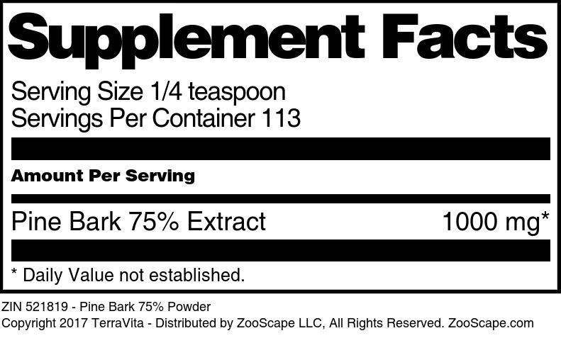 Pine Bark 75% Powder