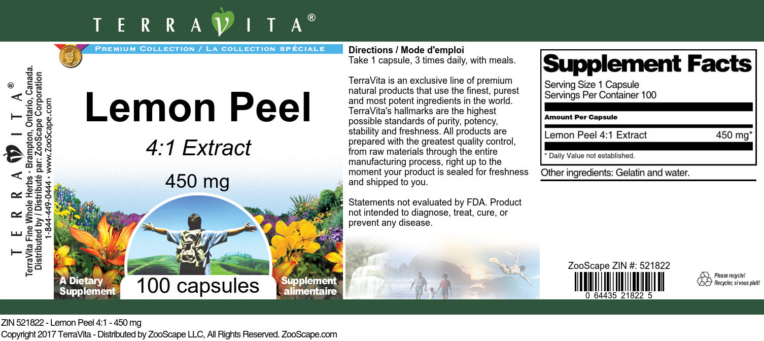 Lemon Peel 4:1 - 450 mg