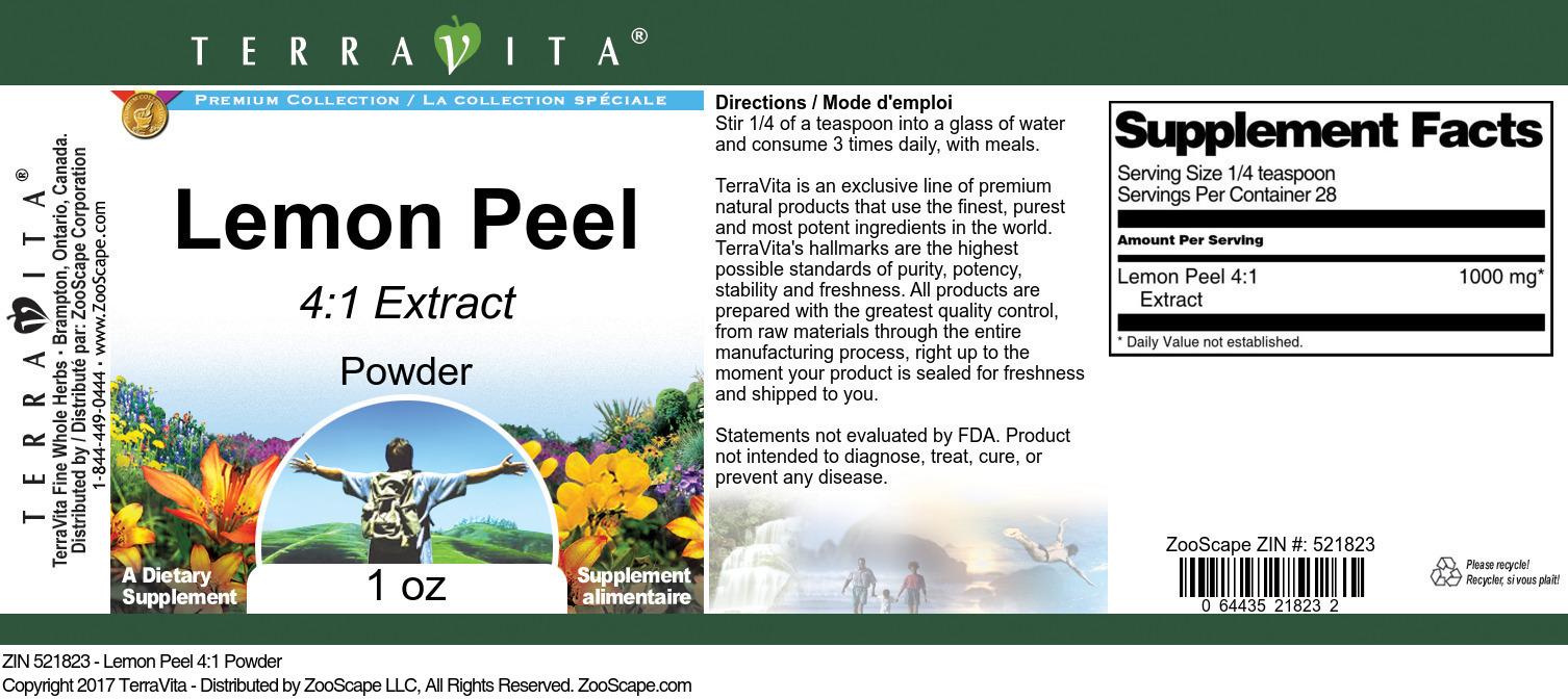 Lemon Peel 4:1 Extract