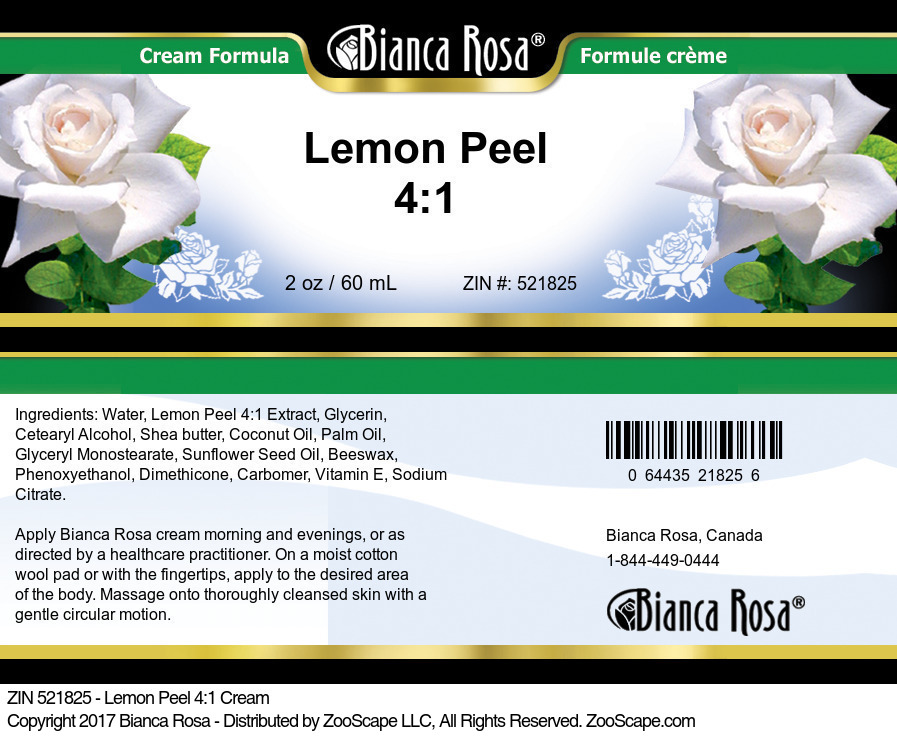 Lemon Peel 4:1 Cream