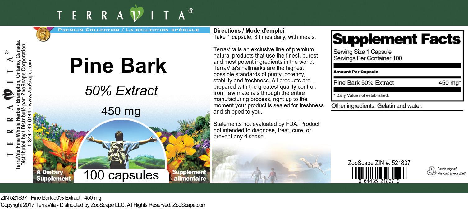 Pine Bark 50% - 450 mg