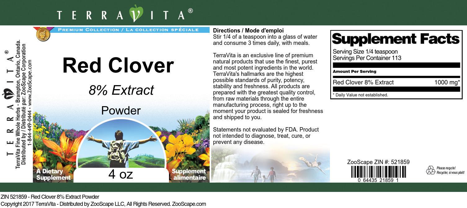 Red Clover 8% Powder