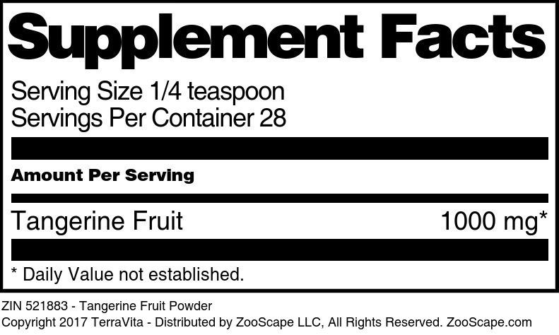 Tangerine Fruit Powder