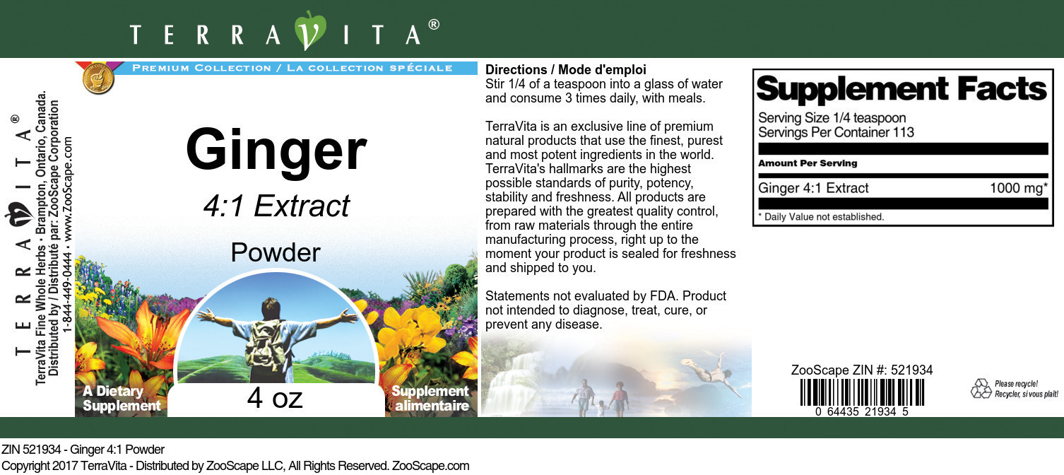 Ginger 4:1 Powder