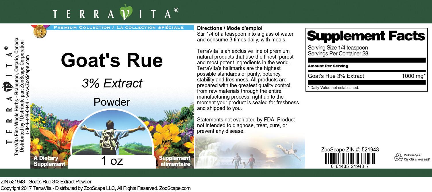 Goat's Rue 3% Powder