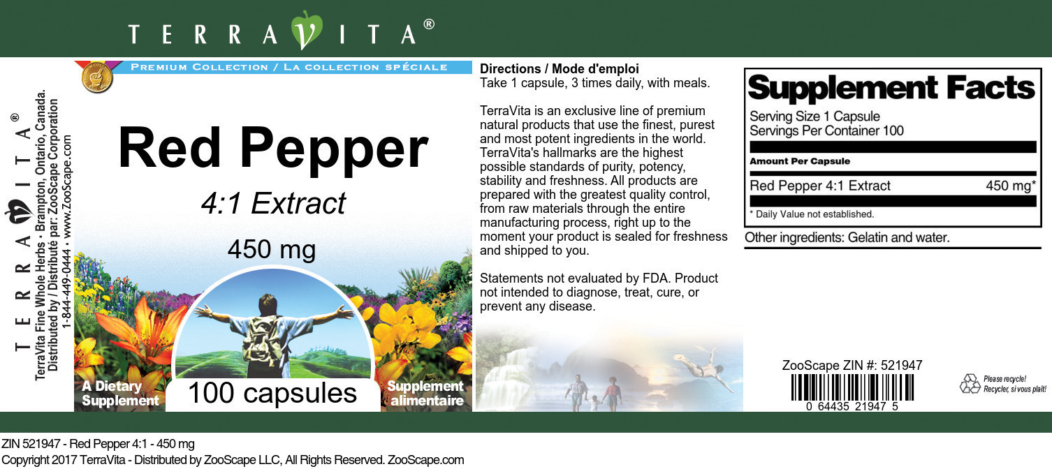 Red Pepper 4:1 - 450 mg