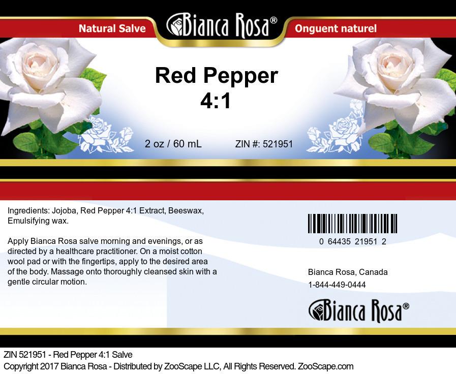 Red Pepper 4:1 Salve