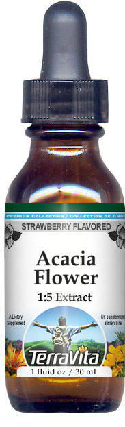 Acacia Flower Glycerite Liquid Extract (1:5) - Strawberry Flavored