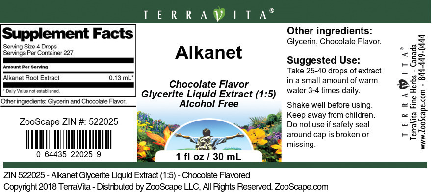 Alkanet Glycerite Liquid Extract (1:5)