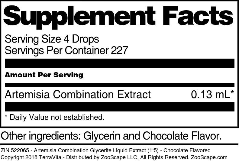 Artemisia Combination Glycerite Liquid Extract (1:5)
