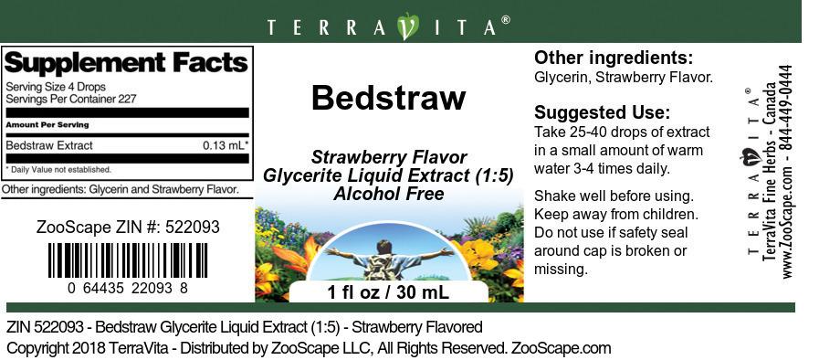 Bedstraw Glycerite Liquid Extract (1:5)