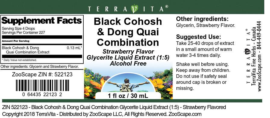 Black Cohosh & Dong Quai Combination Glycerite Liquid Extract (1:5)
