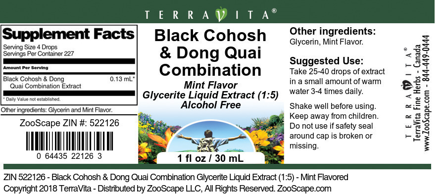 Black Cohosh and Dong Quai Combination