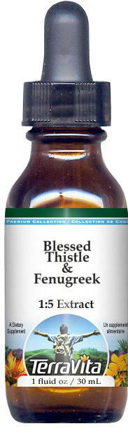 Blessed Thistle & Fenugreek Glycerite Liquid Extract (1:5) - No Flavor