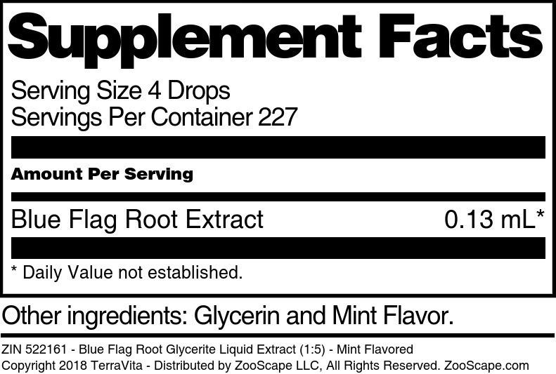 Blue Flag Root Glycerite Liquid Extract (1:5)