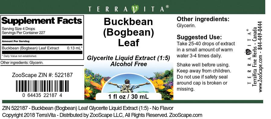 Buckbean <BR>(Bogbean) Leaf
