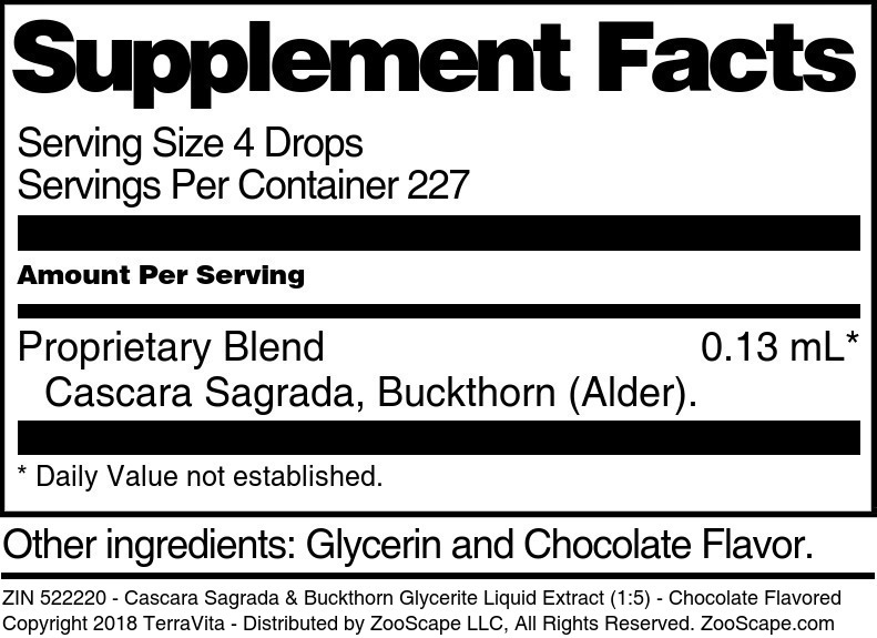 Cascara Sagrada & Buckthorn Glycerite Liquid Extract (1:5)