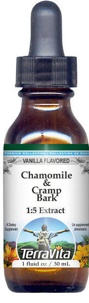 Chamomile & Cramp Bark Glycerite Liquid Extract (1:5)