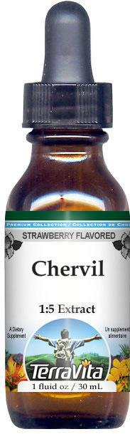 Chervil Glycerite Liquid Extract (1:5) - Strawberry Flavored