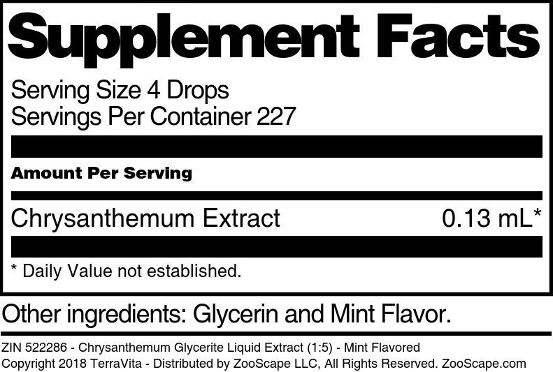 Chrysanthemum Glycerite Liquid Extract (1:5)