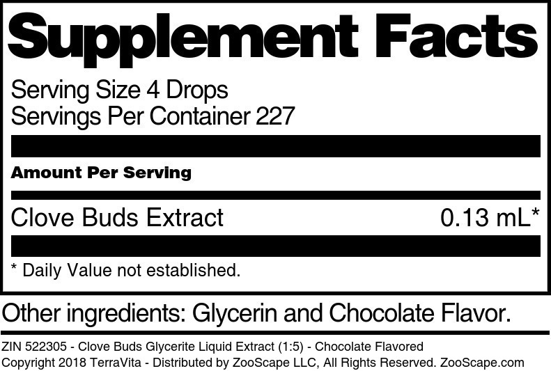 Clove Buds Glycerite Liquid Extract (1:5)