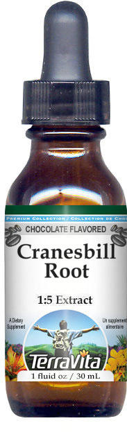 Cranesbill Root Glycerite Liquid Extract (1:5) - Chocolate Flavored
