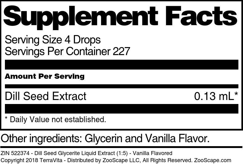 Dill Seed Glycerite Liquid Extract (1:5)