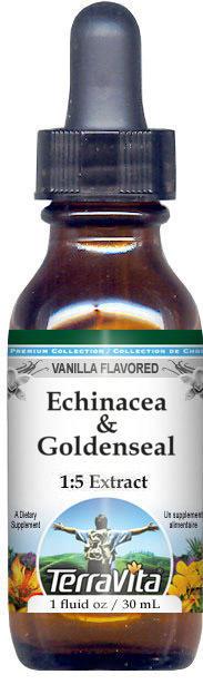 Echinacea & Goldenseal Glycerite Liquid Extract (1:5) - Vanilla Flavored