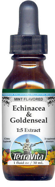 Echinacea & Goldenseal Glycerite Liquid Extract (1:5)