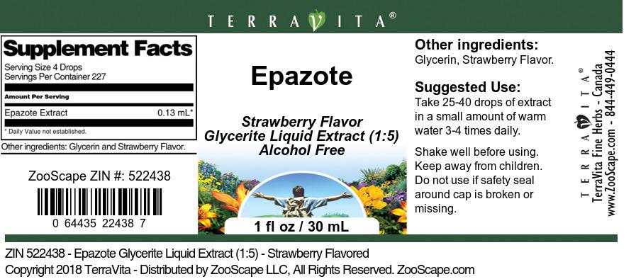 Epazote Glycerite Liquid Extract (1:5)