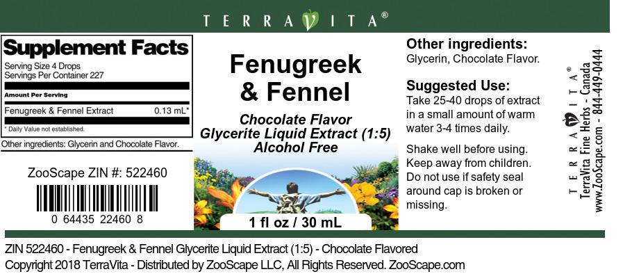 Fenugreek & Fennel Glycerite Liquid Extract (1:5)