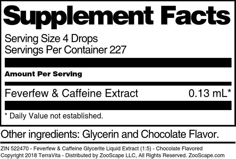 Feverfew & Caffeine Glycerite Liquid Extract (1:5)