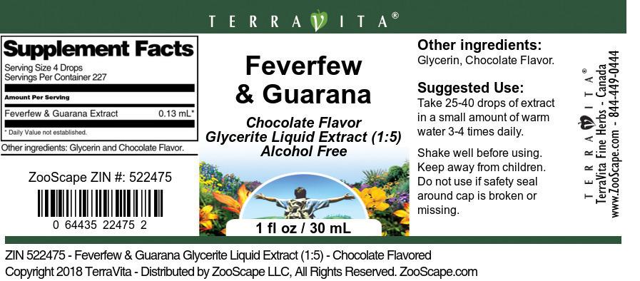 Feverfew and Guarana