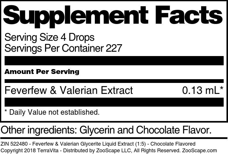 Feverfew & Valerian Glycerite Liquid Extract (1:5)